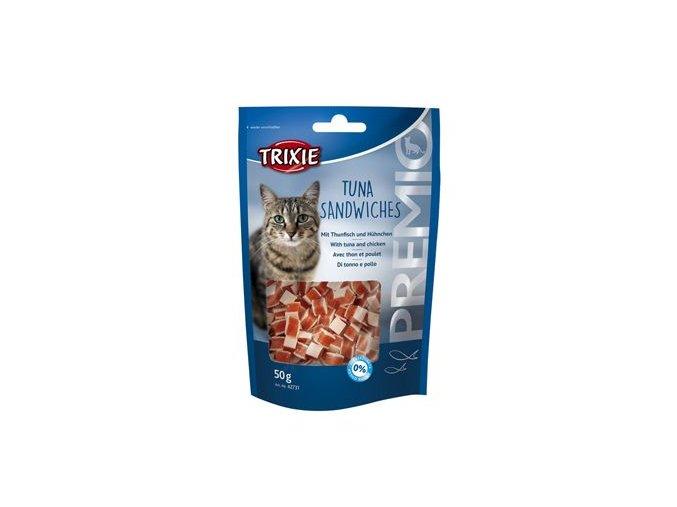 Trixie Premio Tuna Sandwiches tuňák/kuřecí kočka 50g