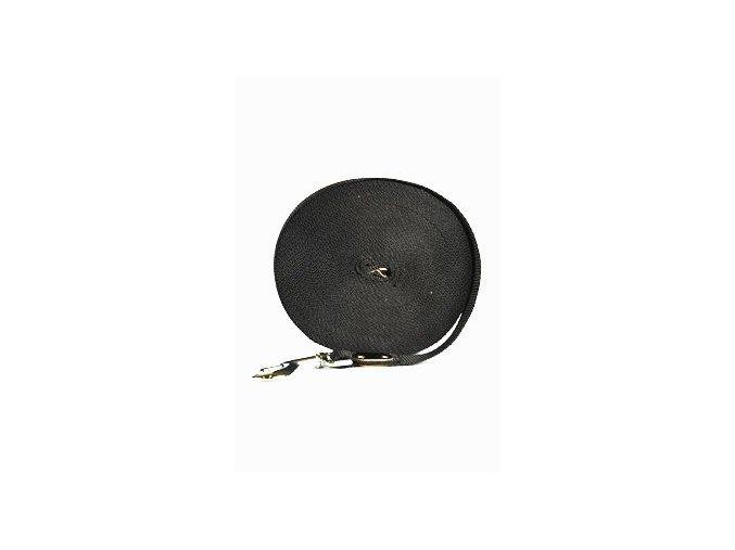 Vodítko nylon stopovací Ploché 15m/25mm Černá 1ks