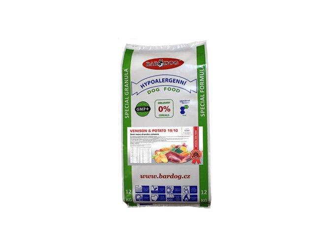 Bardog Ultrapremium Venison Potato 12 kg