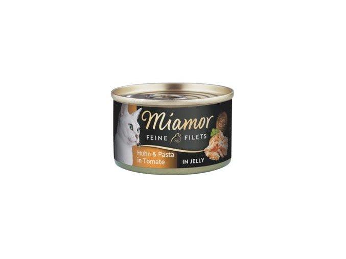 Miamor Cat Filet konzerva kuře+těstoviny v želé 100g