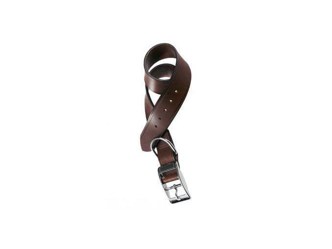 Obojek kožený VIP C 43cmx20mm, hnědý FP 1ks