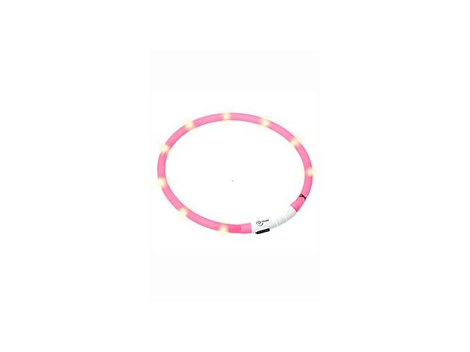 Obojek USB Visio Light 70cm růžový KAR