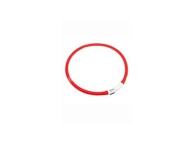 Obojek USB Visio Light 70cm červený KAR