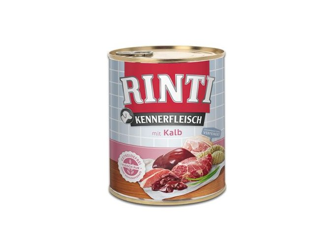 Rinti Dog Kennerfleisch konzerva telecí 800g