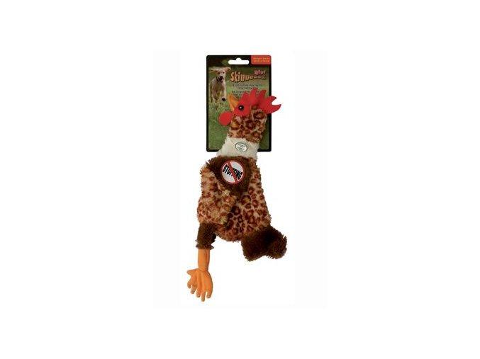 Hračka pes Kohout pískací 32cm Skinneeez