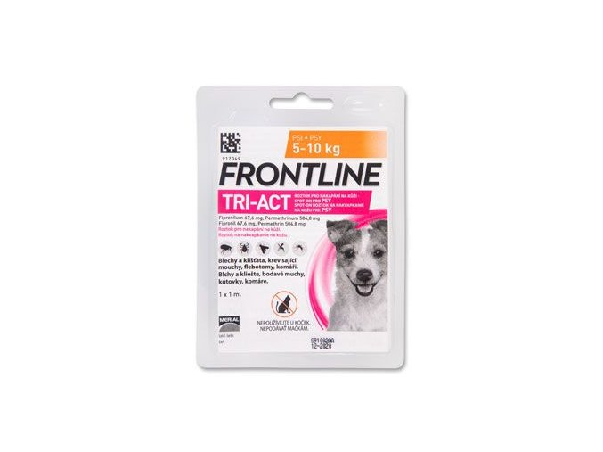 FRONTLINE TRI-ACT spot-on pro psy S (5-10 kg)-1x1ml