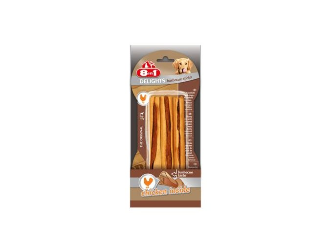 Tyčinky žvýkací Delights Barbecue 3ks