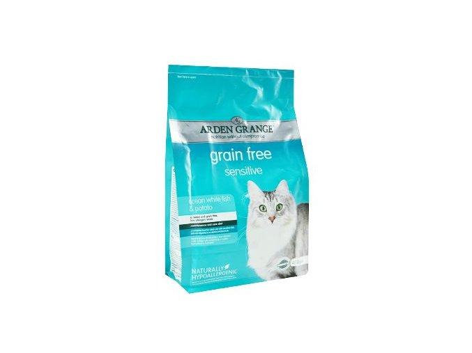 Arden Grange Cat Sensitiv White Fish&Potato 400g