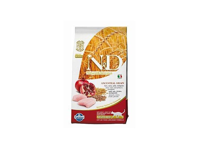 N&D LG CAT Neutered Chicken & Pomegranate 10kg