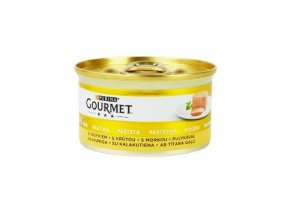 Gourmet Gold konz. kočka pašt. jemná krůta 85g