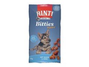 Rinti Dog Extra Bits Puppy pochoutka kuře+hovězí 75g