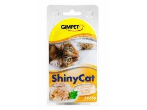 Gimpet kočka konz. ShinyCat tuňak/kuře 2x70g