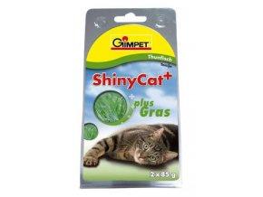 Gimpet kočka konz. ShinyCat tuňak/koc.tráv 2x70g