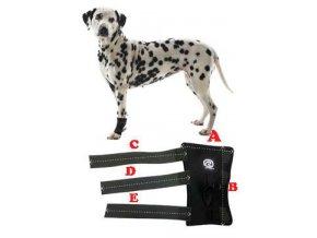 Bandáž karpální pro psa KRUUSE Rehab XL