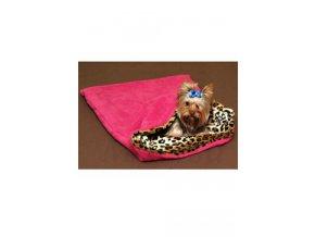 Spací pytel 3v1 leopard/tm.růžová pes,kočka č.34