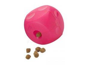 Hračka pes BUSTER Soft Cube purpurová 12cm