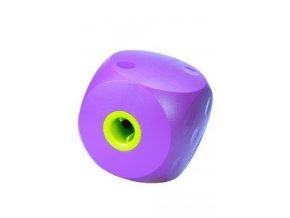 Hračka pes BUSTER Mini cube fialová 9cm, S