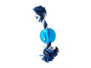 Hračka pes BUSTER Strong Ball s provazem sv. modrá, XS