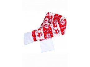 Vánoční šála S 50cm červená TR 1ks