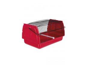 Přepravka pro ptáky a hlodavce 30x18x20cm plast červen