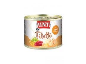 Rinti Dog Filetto konzerva kuře+kuř.srdce v želé 210g