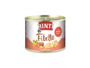 Rinti Dog Filetto konzerva kuře+hovězí v želé 210g