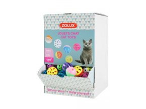 Hračka kočka Display zvonící míčky 204ks Zolux
