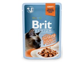 Brit Premium Cat D Fillets in Gravy With Turkey 85g