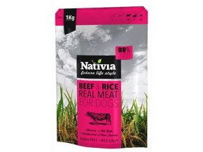 Nativia Real Meat Beef&Rice 1kg