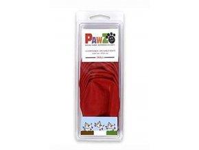 Botička ochranná Pawz kaučuk S červená 12ks
