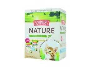 Schmusy Cat Nature Kitten kapsa 2x6x100g multipack+šťá
