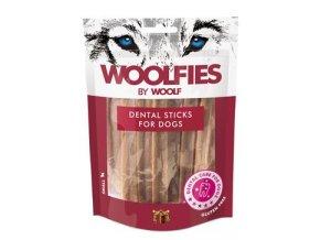Pochoutka dentální Woolfies Dental Sticks S 200g
