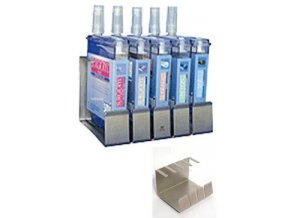 Stojan na šicí materiál v lahvích pro 4ks nerez ocel