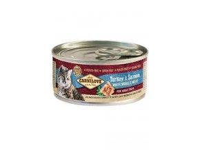 Carnilove White konz Mus Meat Turkey&Salmon Cats 100g