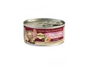 Carnilove White konz Mus Meat Turkey&Salmon Kitten100g