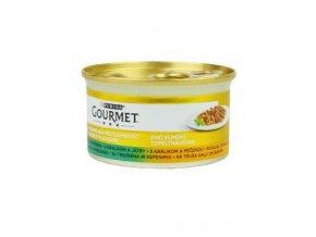 Gourmet Gold konz. kočka pašt. duš.králík a játra 85g