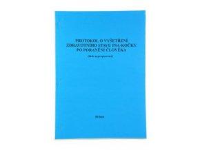 Tiskopis-Protokol o pokousání 50 listů (vzteklina)