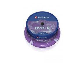 DVD+R VERBATIM Spindle/General Retail/16x/4.7GB 25ks