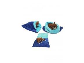 Spací pytel 3v1 modrá/tyrkysová XL pes,kočka č.4