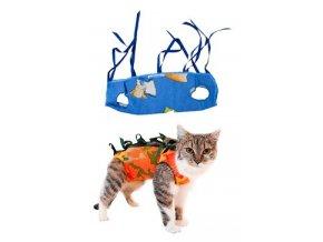 """Ochranná košilka """"LENKA"""" kočka velikost XS 1ks"""