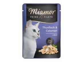 Miamor Cat Filet kapsa tuňák+kalamáry v želé 100g