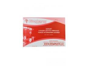Tiskopis-Záznam veterinárního lékaře o použití léčiv