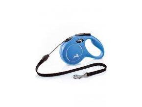 Vodítko FLEXI Classic NEW M lanko 5m/20kg modrá