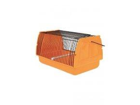 Přepravka pro ptáky a hlodavce 30x18x20cm plast oranž