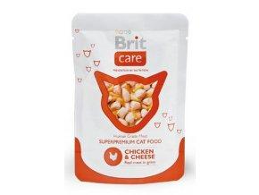Brit Care Cat kapsa Chicken & Cheese Pouch 80g