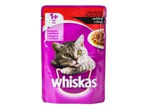 Whiskas kapsa s hovězím masem ve šťávě 100g