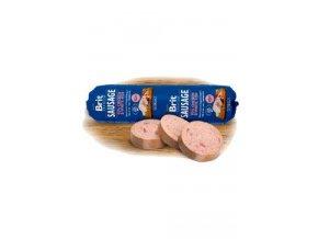Brit Sausage Chicken & White Fish 800g New