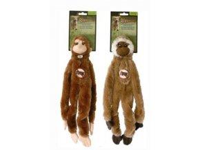 Hračka pes Opice pískací 41cm Skinneeez