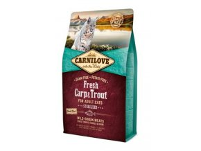 Carnilove Cat Fresh Carp & Trout Sterilised Adult 2kg