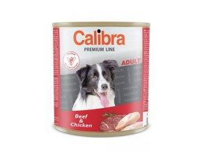 Calibra Dog konz.Premium Adult hovězí+kuře 800g